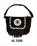 Ladies Handbag with Beads, Bones, Fringe