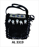 Ladies Handbag with Beads, Bones, Conchos, Fringes