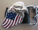 Eagle with US Flag Vest Extenders Set of 4