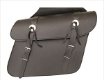 Medium Throw Over Leather Motorcycle Saddlebags