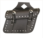 Studded Throw-Over PVC Zip-Off Motorcycle Saddlebags