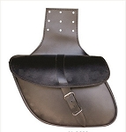 Medium Plain Leather Throw Over Saddlebags