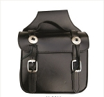 Square Plain Leather Throw Over Saddlebags with Conchos