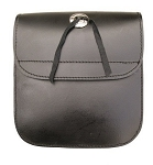 Medium Leather Motorcycle Sissy Bar Bag with Concho
