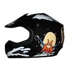 Youth Black DOT ATV Dirt Bike MX Back Off Helmet