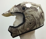 Youth Leaf Camo DOT ATV Dirt Bike MX Helmet