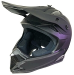 DOT ATV Dirt Bike MX Black Motorcycle Helmet
