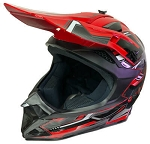 DOT ATV Dirt Bike MX Red Motorcycle Helmet