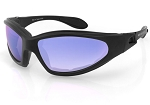 Bobster GXR Sunglasses Goggles Cyan Mirror Lenses
