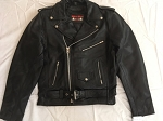 Men's Classic Leather Motorcycle Jacket Z/O Lining