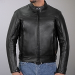Men's Conceal Carry Vented Reflective Leather Jacket