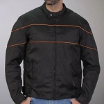Textile Motorcycle Jacket Orange Reflective Trim