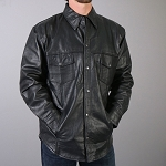 Men's High Quality Leather Shirt