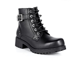 Ladies Black Motorcycle Boots with Zipper