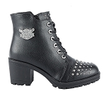 Women's Studded Motorcycle Boots