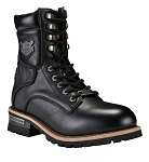 Men's Side Zipper Leather Motorcycle Boots