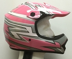 Youth Pink DOT ATV Dirt Bike MX Helmet
