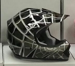 Youth Black DOT ATV Dirt Bike MX Spider Web Helmet