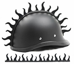 Warhawk Fire Motorcycle Helmet Blade Strip