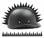 Warhawk Uneven Blade Motorcycle Helmet Strip