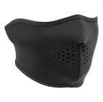 Neoprene Black Half Face Mask Mesh Lined