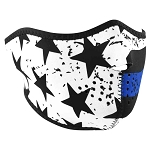 Neoprene Thin Blue Line Half Face Mask