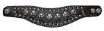 Studded Leather Wristband Bracelet with Chopper Crosses