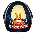 Youth Yosemite Sam Back Off Black Full Face Helmet