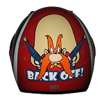 Youth Yosemite Sam Back Off Red Full Face Helmet