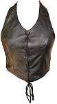 Ladies Leather Halter Top with Laces