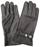 Full Finger Lined Leather Gloves with Snap Closure