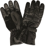 Biker Gloves with Padded Knuckles & Fingers