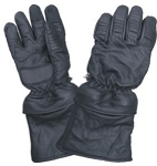 Leather Gloves with Removable Zippered Cuff