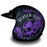 DOT Heaven Sent Hell Bound Motorcycle Helmet