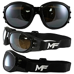 Vented Motorcycle Goggles Driving Mirror Lens