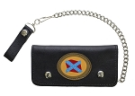 Confederate Flag Leather Chain Wallet