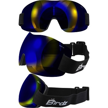 Lightweight Motorcycle Goggles Blue Lens