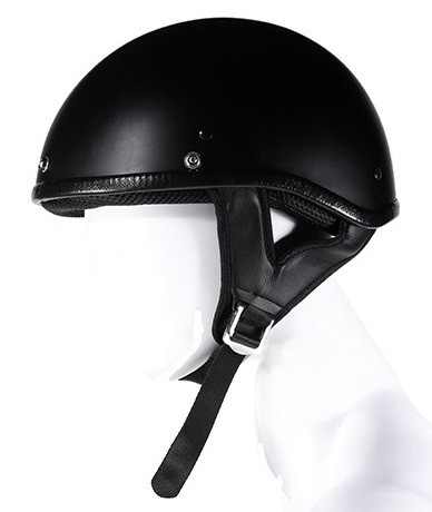 DOT Approved Flat Black Motorcycle Half Helmet