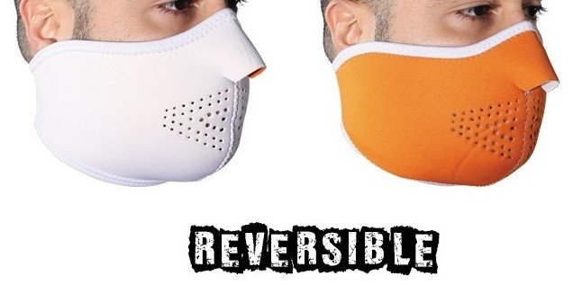Reversible Motorcycle Half Face Mask