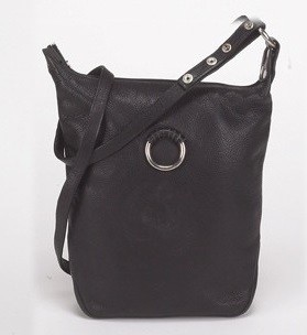 Womens Large Black Leather Purse