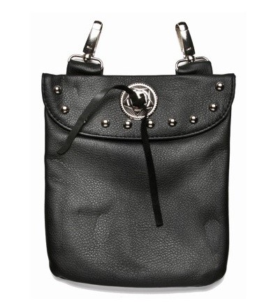 Womens Hip Bag with Studs and Concho