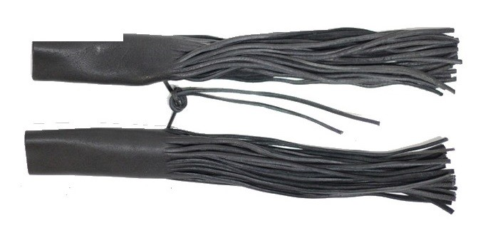 Black Handle Bar Covers With Fringe
