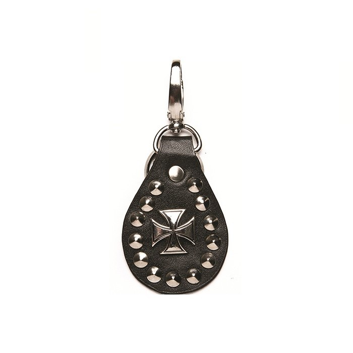 Leather Chopper Cross Keychain
