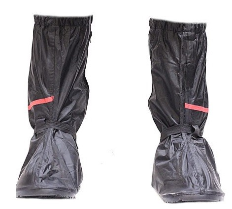 Motorcycle Rain Boot Covers with Rubber Sole