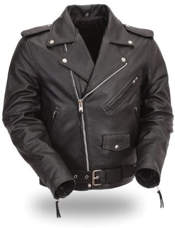 Mens Top Grade Biker Leather Motorcycle Jacket