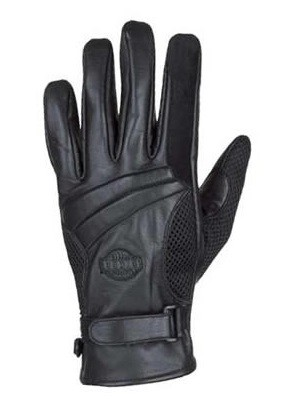 Gel Palm Full Finger Leather Motorcycle Gloves