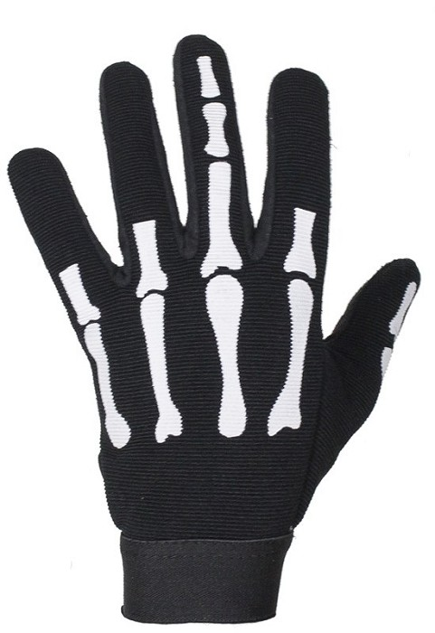 Skeleton Mechanics Gloves Giving Middle Finger