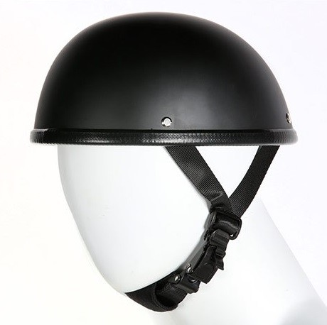 EZ Rider Novelty Flat Black Motorcycle Helmet