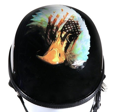 U.S. Flag Novelty Motorcycle Helmet With Eagle