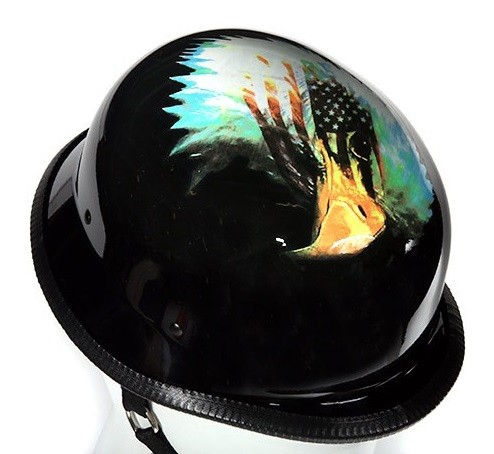Novelty Motorcycle Helmet With Eagle and U.S. Flag